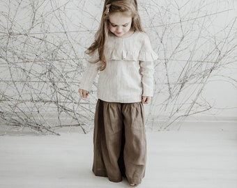 a0e589ad60f Girls palazzo pants | Etsy