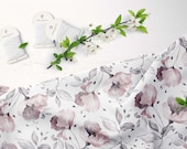 Linen fabric by the yard floral printed linen fabric modern patterned linen fabric for clothes dresses blouses No.176
