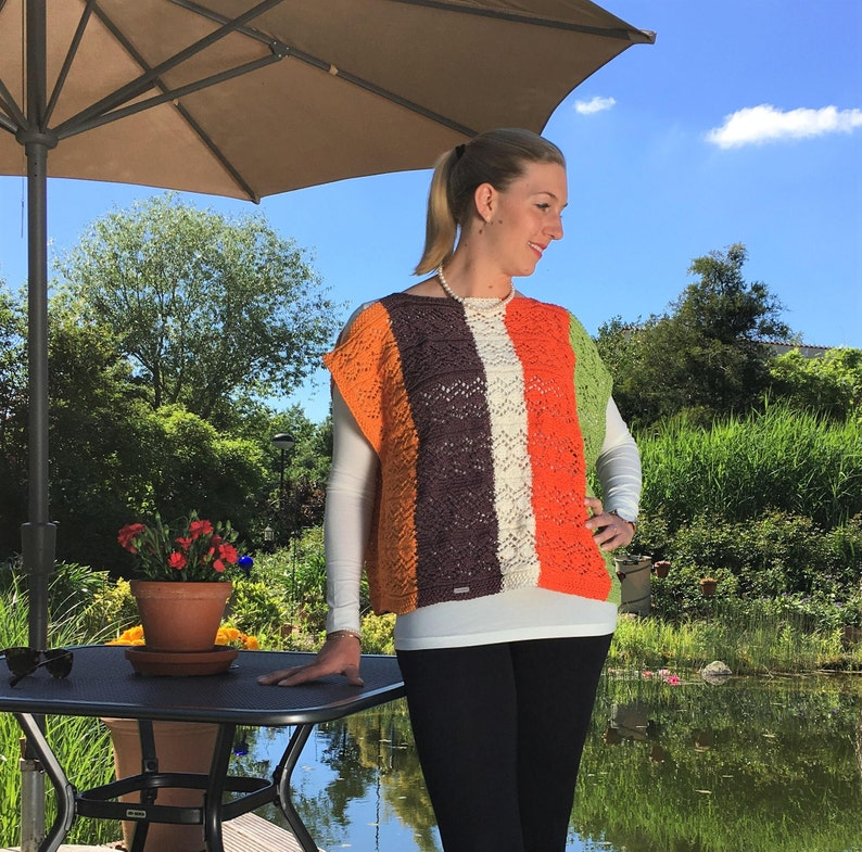 Top Lea one size XS-XL hand knitted from 100% image 0