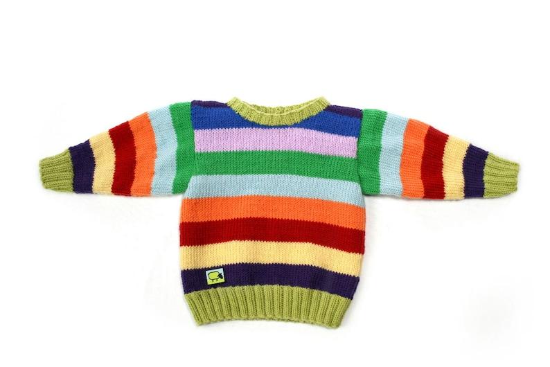 Sweater Philine for babies 0-2 years 100% merino image 0