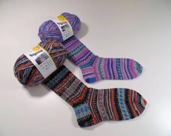 """Socks """"Wilma"""" for adults and children with gorgeous wool REGIA DESIGN LINE Arne and Carlos"""