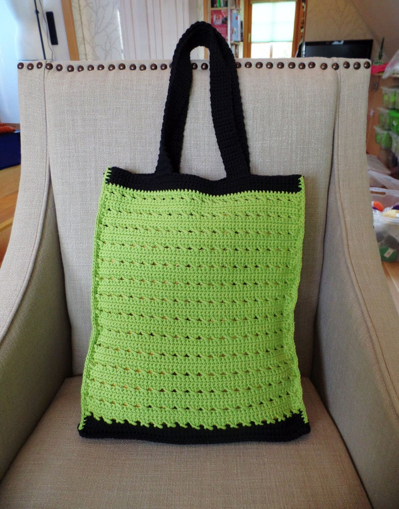 Bag Olga made of crocheted durable cotton by image 0