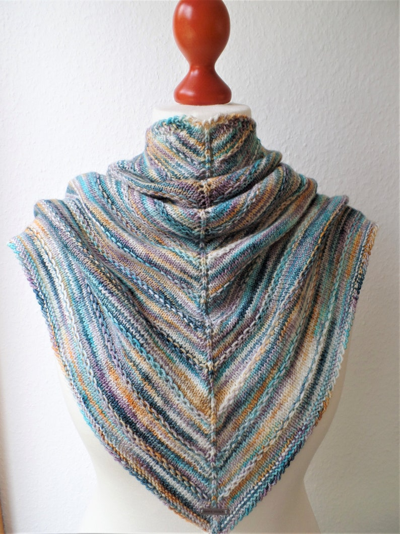 Triangular Cloth Hulda hand colored and fairly image 0