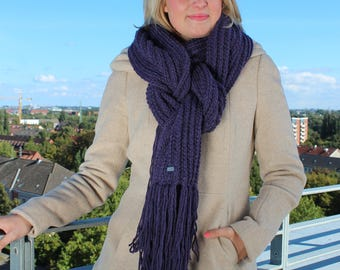 """OVERSIZE-SCHAL """"LENE"""" wool, hand-knitted by Grandma Renate. Free shipping Germany-wide"""