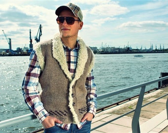 """Vest """"Armina"""" is the solution for changeable weather in summer. Handmade knitted in top form by granny heath."""