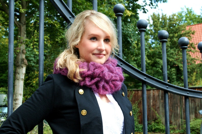Scarf Valentina made of mohair super kid and silk image 0