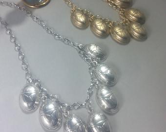 Seven Piece Scarab Necklace