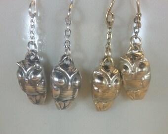 Petite Owl Earrings
