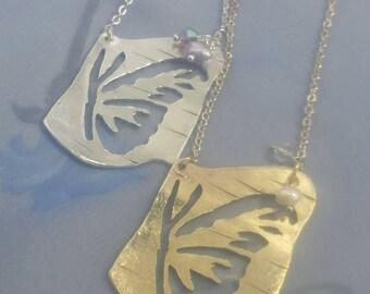 Butterfly Silhoutte  Pendant