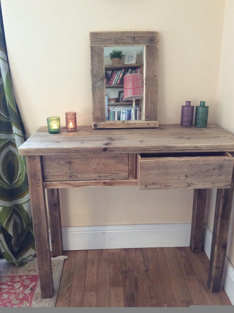 quality design 04f39 f3c53 Wooden reclaimed wood Dressing Table rustic chunky