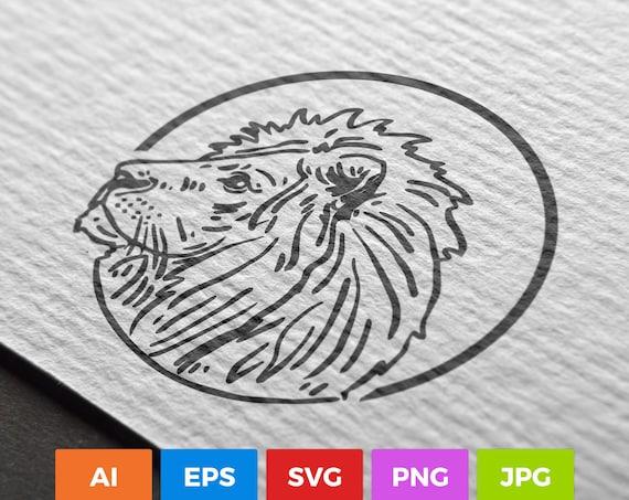 Lion Lion Svg Lion Silhouette Lion Art Lion Digital Art Etsy