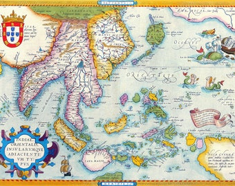 South east asia map etsy world map of south east asia by abraham ortelius ca1590 gumiabroncs Image collections
