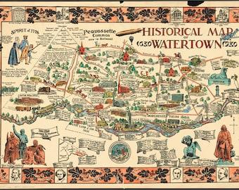 Watertown map | Etsy