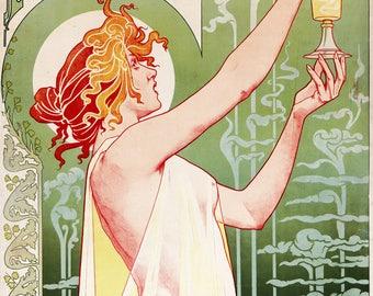 Absinthe by Robette Private-Livemont; Art Nouveau Poster 1876