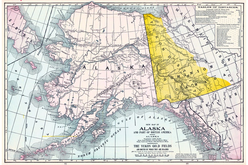 Alaska & Routes to Yukon Gold Fields, Antique Map 1904 on california gold rush, watson lake yukon map, dawson city, robert w. service, alaska gold claims map, klondike gold rush national historical park, yukon gold claim map, carolina gold rush, white pass and yukon route, kate carmack, rush arkansas map, yukon first nations map, yukon map klondike, yukon trail map, victorian gold rush, yukon city map, white pass, black hills gold rush, yukon alaska, placer mining, yukon oklahoma street map, yukon political map, top of the world highway map, yukon united states map, alaska gold fields map, yukon canada, scribner creek alaska map, alaska gold mines map, yukon river, australian gold rushes, oregon gold claim map, yukon on a map, klondike, yukon, yukon gold fields map,