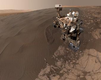 Sandy Selfie Sent from NASA Mars Rover Curiosity