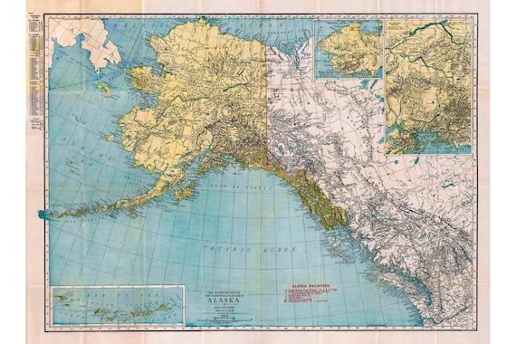 The Rand-McNally New Commercial Atlas Map of Alaska, 1913