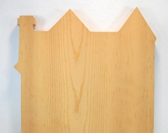 Unfinished Wood Row House Crafting Cutout