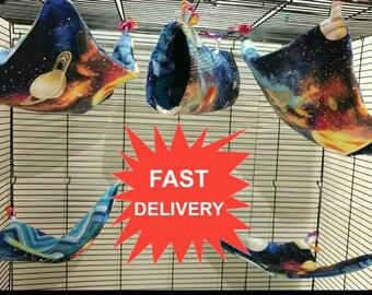 Rat hammock 5 pc set GET IT FAST - rat bed, rat cage set, rat accessories, pet rat, small pet bed, fleece hammock, cheap rat hammock, rats
