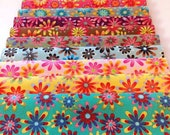 Flower Power Layer Cake, 10 quot squares, 34 squares, cotton Quilting fabric, crazy daisy print fabric