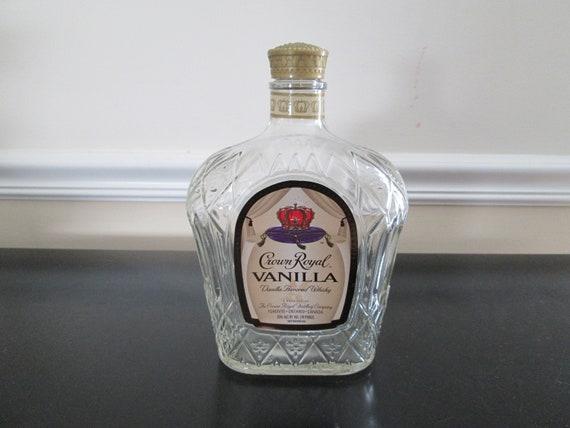 Crown Royal Regal Apple 1.75 Liter Bottle Empty Decanter Collectible Arts Liquor
