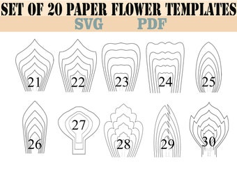 Paper flower template etsy all 20 pdf svg diy giant paper flower template mightylinksfo