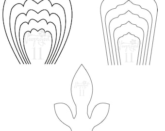 Pdf set of 2 flower templates and 1 leaf template ant set of 2 flower templates and 1 leaf template ant paper flower template flower wallintable flower templateper flower template mightylinksfo