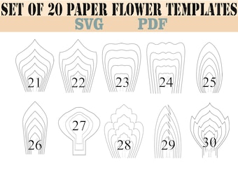All 20 PDF & SVG DIY Giant Paper Flower Template