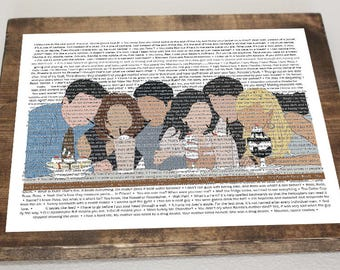 Friends TV Show Quotes Collage #2 *Digital Image*