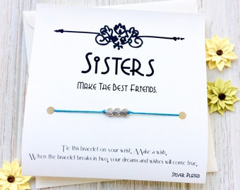 Sister Bracelet Birthday Gift For Jewelry Wish Big Gifts Little Card