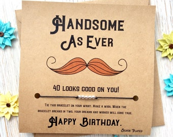 40th Birthday Gift For Man Forty Gifts Card Men Fortieth