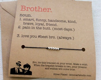 Christmas Gifts For Brother Gift Birthday Card Him Men Wish Bracelet
