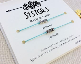 sister gift for sister christmas gifts for sister bracelets sister birthday gift big sister little sister jewelry wish bracelet sister gifts
