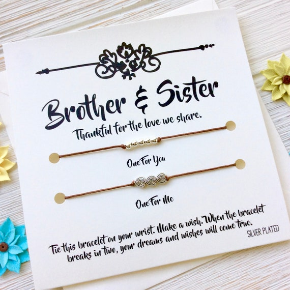 Brother Sister Gift Bracelet From