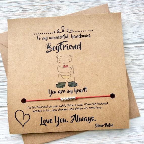 Boyfriend Christmas Card Boyfriend Anniversary Card Boyfriend Etsy