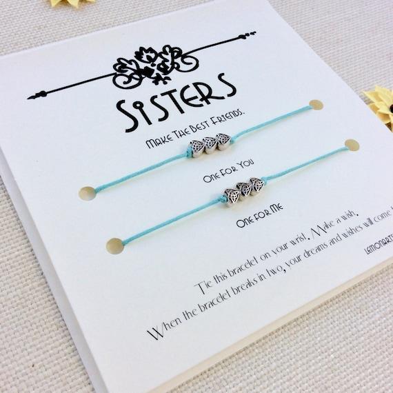 Sister Gift For Bracelet Birthday Big