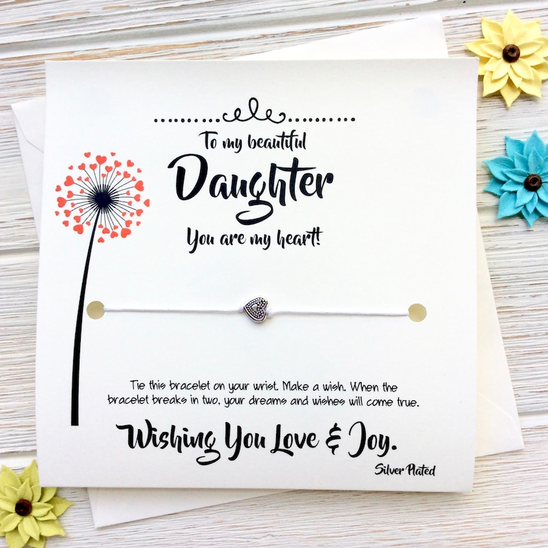 Daughter Gift From Mom Birthday Card