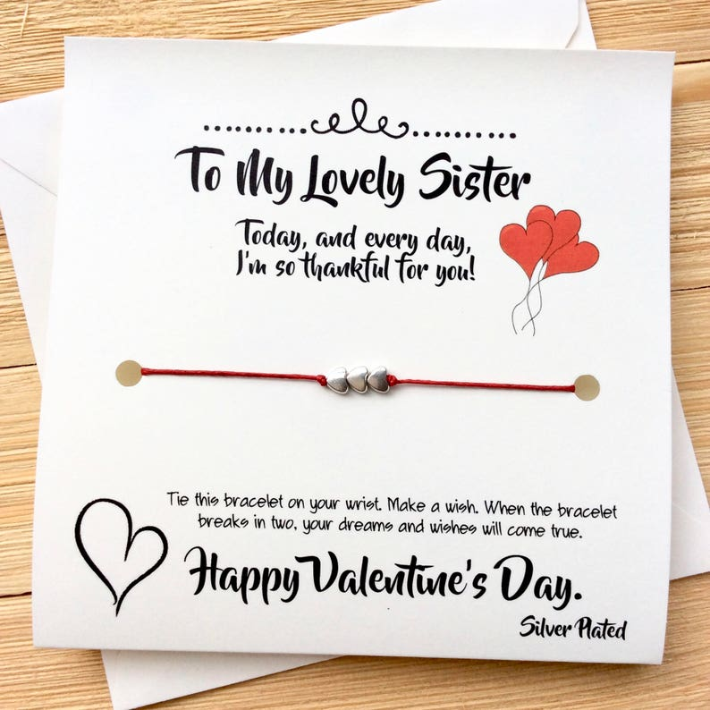 Valentines Gift For Sister Valentines Gift For Her Sister Wish Etsy