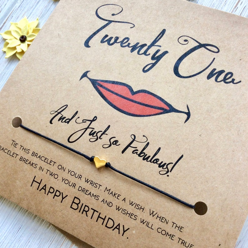 21st Birthday Gift For Her Card