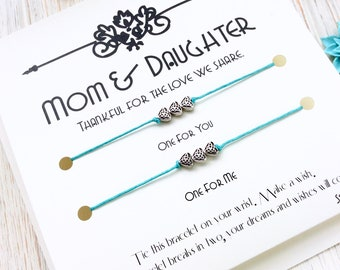 Mom Gift From Daughter Mother Daughter Bracelet Gifts For Mom Mother Daughter Gift Christmas Gift