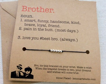 Brother Gift For Brother Birthday Card Graduation Gift Big Brother Funny Card Christmas Gift