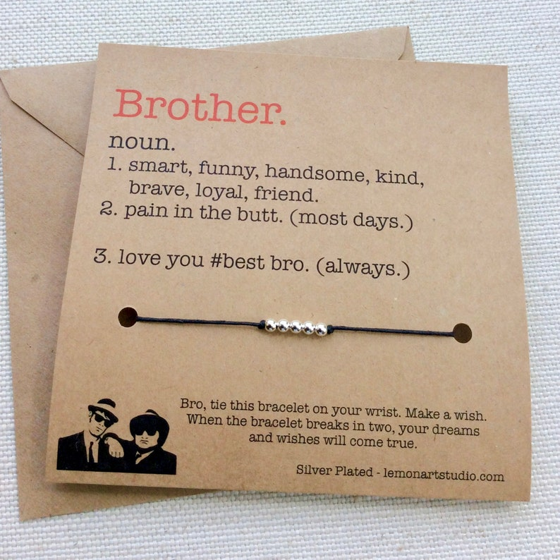 Brother Gift Birthday Card