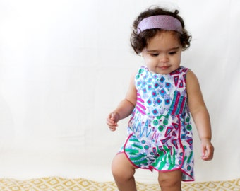 Baby Girl romper.  100% cotton