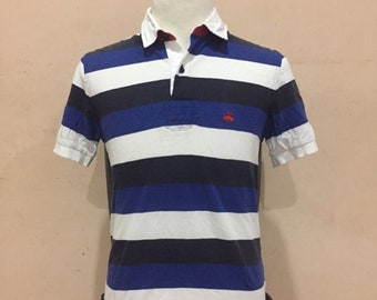 Brooks Brothers 1818 Polo Rugby Shirt Size S Blue stripes 4a73f2a9d