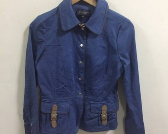 66651bf933 Luisa Spagnoli Blue Jacket Size 42