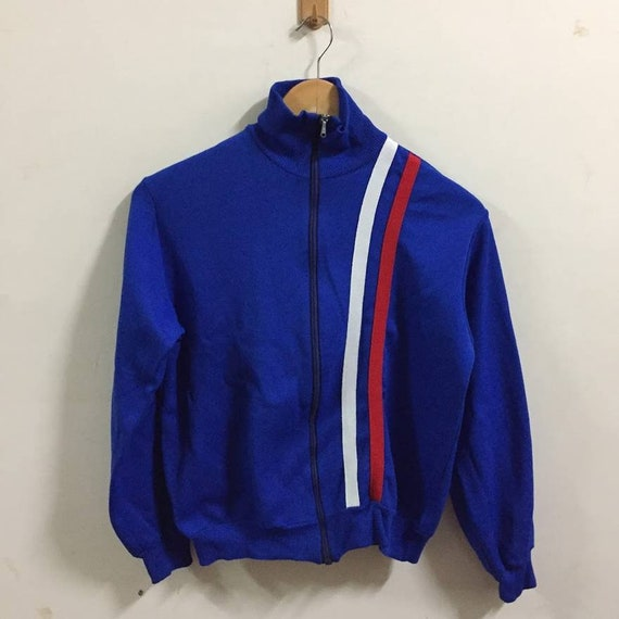 Jahrgang Sieger Jacke Pullover blau Größe S Track Top   Etsy c1c46cadc8
