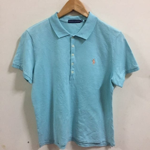 Ralph Lauren Skinny Polo Shirt Size XXL women polo shirt blue  afe3a5f75f