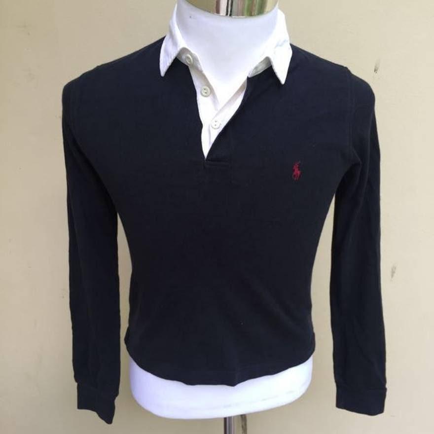 9069c6268849f0 Polo de à Ralph de Ralph Lauren chemise taille L noir à de manches longues  pour
