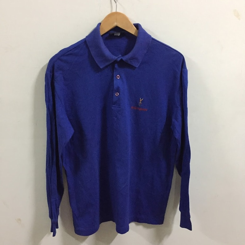 12a5a87d Vintage Yves Saint Laurent YSL pour homme polo Shirt Made In   Etsy