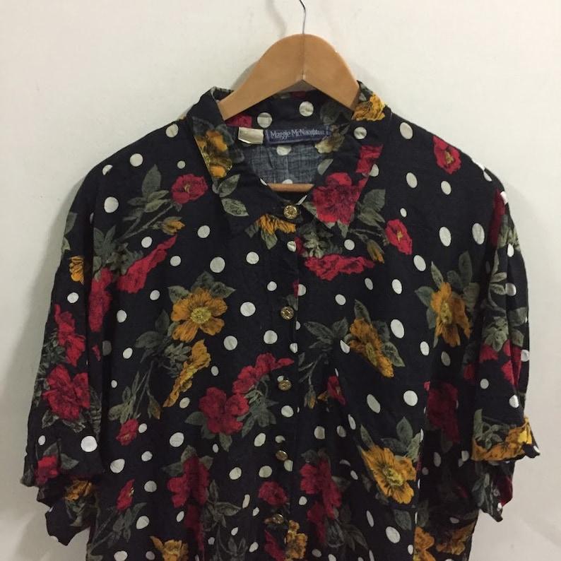 Maggie Mc Naughton Florals Hawaiian Shirt Size XXL